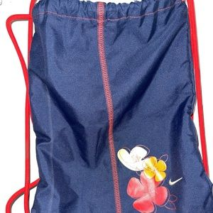 Nike floral gym bag drawstring
